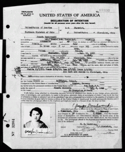 Naturalization for Jozefa Lisowska