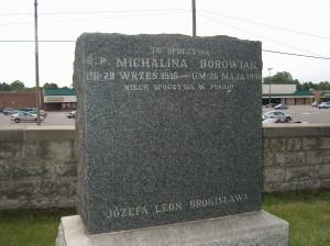 Michalina Borowiak Gravestone in Lemont, Ill.