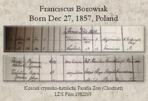 Frank Borowiak Baptism Record