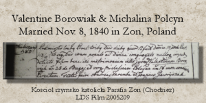 Valentine and Michalina Polcyn Marriage record