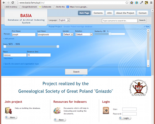 Basia Database Site