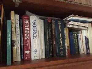 A few of my genealogy books