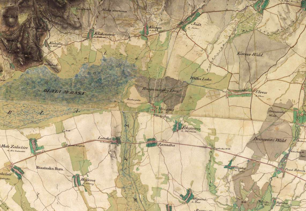 Ubrez Area - 2nd Military Survey 1800s, Mapire.eu site