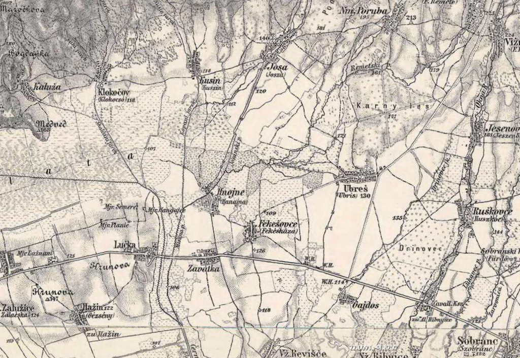Ubrez Area - 3rd Military Survey 1800s, Mapire.eu site