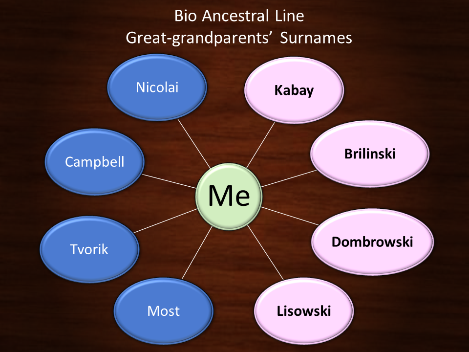 Bio Ancestral Lines - Greatgrandparents' surnames